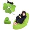 Ghế lười hình trái tim màu xanh lá cây